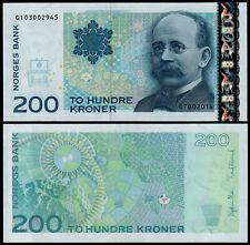 More details for norway 200 kroner (p50g) 2014 unc