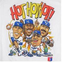 Vintage LA Dodgers Hot Hot Hot Caricature T-shirt Size S M XL Reprint DD206