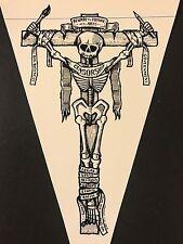 MARK ARMINSKI SIGNED Tattoo Detroit Handbill / Flyer & Beware Sticker Decal Lot