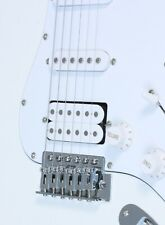 Electric Guitar ST-style SSH in White with Maple fretboard