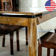 1Pcs Tablecloth Clear Plastic Waterproof Transparent Duty Dining Table Cover