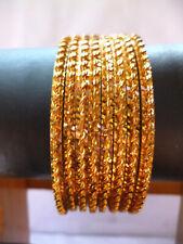 time wear High Quality Bracelet 2.6'' abg 22K Gold Plated 8 Pcs Bangle All
