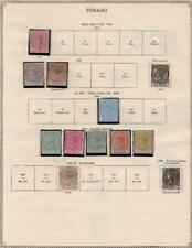 TOBAGO/TONGA: 1879-1894 Examples - Ex-Old Time Collection - 2 Sides Page (34975)