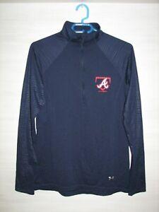 ATLANTA BRAVES BASEBALL UNDER ARMOUR Half-Zip Pullover Jacket SIZE L