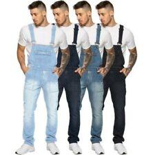 Enzo Jeans para Hombre Mono Pantalón Denim Grande Todo Cinturas 76.2cm-127cm