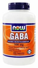 NOW Foods Gaba 500mg with B-6 200 Capsules