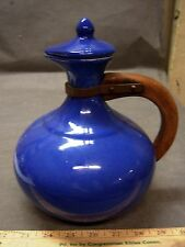 RARE Red Wing 565 Gypsy Trail Coffee Server Wooden Handle Blue Antique