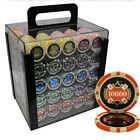 1000pcs 14G ACE CASINO CLAY POKER CHIPS SET ACRYLIC CASE CUSTOM BUILD