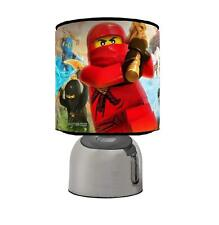 NINJAGO  TOUCH TABLE BEDSIDE LAMP CHOOSE FROM 3 DESIGNS KIDS ROOM