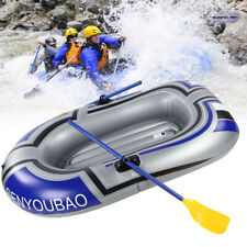 Inflatable Boat Raft Kayak Pvc Canoe Dinghy w/ Inflator Pump for Fishing Durable