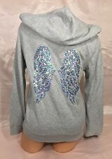 Victorias Secret Supermodel Essentials Bling Gray Angel Wings Hoodie Jacket