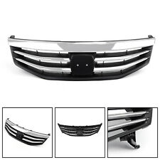 New Front Upper Bumper Hood Black Chrome Grille For Honda Accord 2011-2012 B7