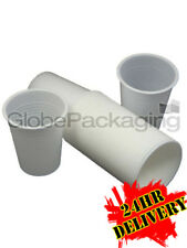 4000 x White Disposable 7oz PLASTIC CUPS GLASSES 24HRS