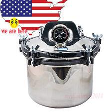 FDA 8L 0.145-0.165Mpa Dental  Steam Autoclave Sterilizer Dual heating system POT