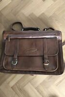 Hidesign extra large brown leather briefcase / overnight bag