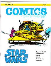 """Comics Review Vol 1 No 4-1984-Strip Reprints- """"Star Wars.Cover!  """""""