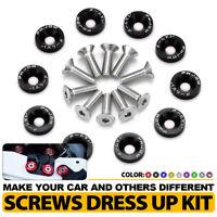 BLACK 5 PC BILLET ALUMINUM FENDER//BUMPER WASHER//BOLT ENGINE BAY DRESS UP KIT G