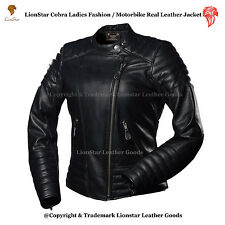 Lionstar Cobra Ladies Stylish Biker Casual Fancy Victorian Real Leather Jacket