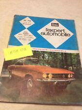Revue Technique Expert Automobile Opel Manta 1200 1600 1900 S éd. 72