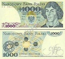 1000 ZLOTYCH - BANKNOTE FROM POLAND  - MINT UNC CONDITION POLISH ZLOTY