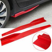 Rot Auto Seitenschutzleisten Stoßstange Flügel Rocker Splitter Diffusor Schutz