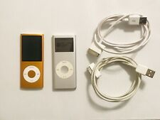 Apple iPod nano 4th Gen 8GB (Orange) and iPod nano 2nd Gen 2GB (Silver) Lot