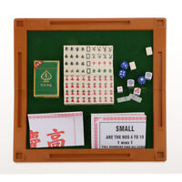 4 In 1 Mini Mahjong Set Chinese Traditional Travel Board Game Cream ML-011