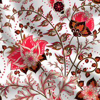 Flower Pattern Cotton Fabrics For Sewing Quilting 44 Inch Wide Sold By The Yard