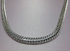 24 INCH 14 KT WHITE GOLD EP  6MM FOXTAIL WHEAT  DESIGNER NECKLACE  WAS $10.95