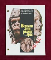 Beneath The Planet Of The Apes with reproduction signatures