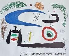 Sleep Under the Moon by Joan Miro Art Print Pace Columbus Orignal Poster 1976