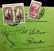 TURKEY OTTOMAN EMPIRE 3V ON COVER TO GERMANY HOTEL