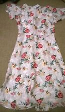 BNWT Next size 16 dress pink floral formal party work smart casual cap sleeves