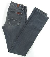 SEVEN 7  FOR ALL MANKIND  ROXANNE  SKINNY Distressed  Women's jeans size 24/32