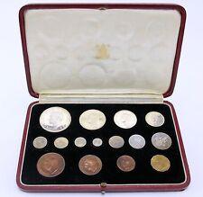 Royal Mint 1937 Pre Decimal 15 Proof Coin Maundy Set FDC Original Case
