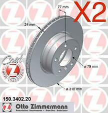 Zimmermann Front Brake Discs 310mm BMW E60 523i 525i 34116764021