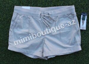Khakis & Company Classic Women's Roll Up Short Casual Pants Sand Drawstring $39