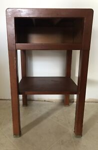 Simmons MCM Mid Century Metal Night Stand End Table A M Maple Finish