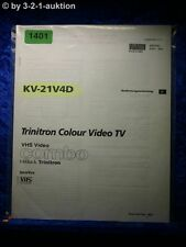 Sony Bedienungsanleitung KV 21V4D Color Video TV (#1401)