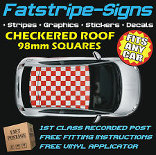 TOYOTA AYGO CHECKERED ROOF CAR GRAPHICS STRIPES DECALS STICKERS 1.1 1.4 SPORT GO