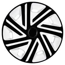 Radkappen 15 Zoll Cyo Schwarz-Weiß für Renault Nissan Radzierblenden Radblenden