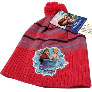 Frozen Bobble Hat Winter Beanie Anna Elsa Girls Child Christmas School Snow
