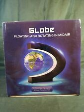 Globe Floating And Rotating In Midair In C Shape Magnetic Levitation Map