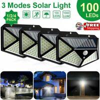1x/2x/4x Lampada Faro LED Solare Faretto Sensore Movimento Luce Esterno Giardino