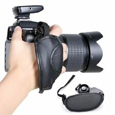 EOS Nikon Sony Olympus SLR/DSLR Leather Wrist Strap Black Hand Grip Camera