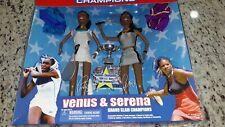 AMERICAN CHAMPS TENNIS VENUS AND SERENA WILLIAMS GRAND SLAM FIGURES IN BOX