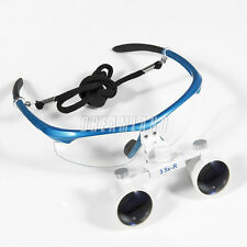 Dental 3.5X 420mm Binocular Loupes Surgical Optical Glass loupes glasses blue