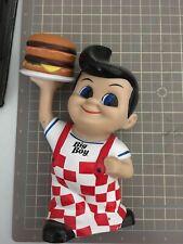 Frisch's Bob's Big Boy with Hamburger Vinyl Coin Bank  2010 Restaurant Mascot