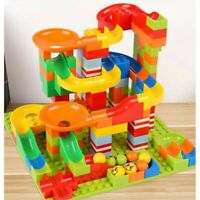 165PC MARBLE RUN RACE SET CONSTRUCTION BUILDING BLOCKS KIDS TOY GAME TRACK GIFT