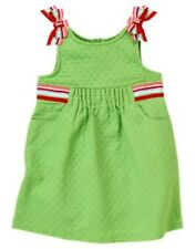 Gymboree Burst of Spring Dress Size 3T New Green Jumper Dress Striped Ribbons